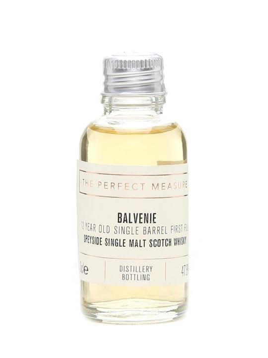 Balvenie 12 Year Old Single Barrel First Fill Sample Speyside Whisky