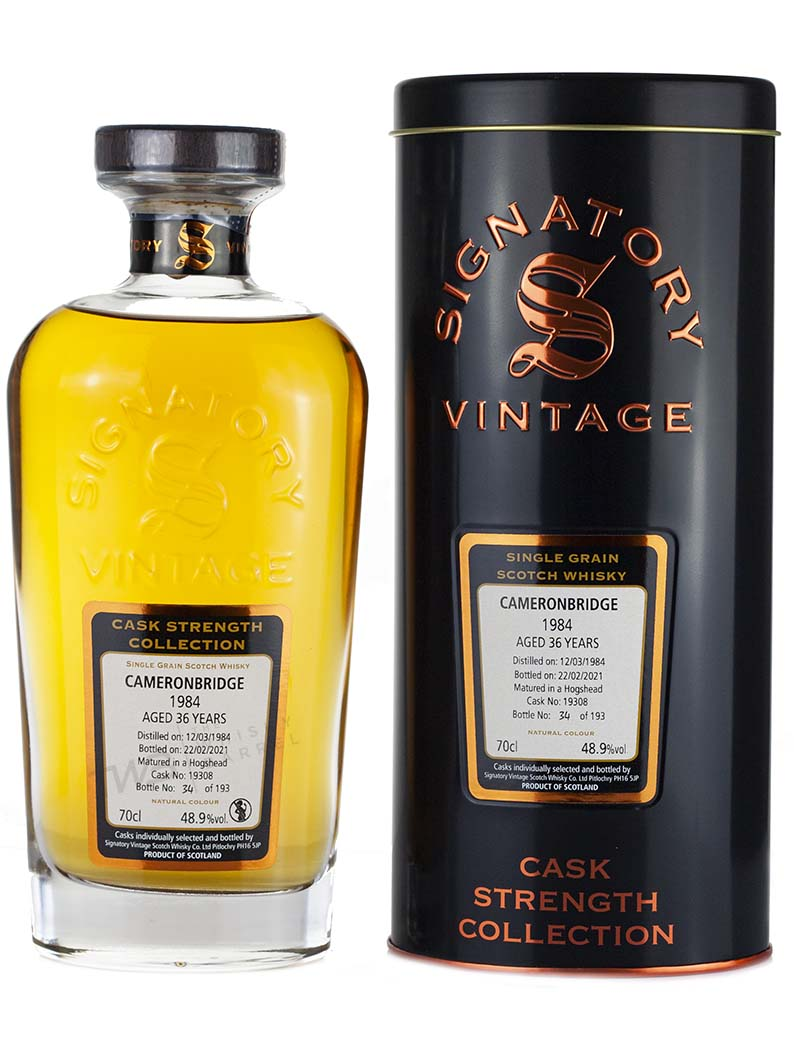 Cameronbridge 36 Year Old 1984 Signatory Cask Strength