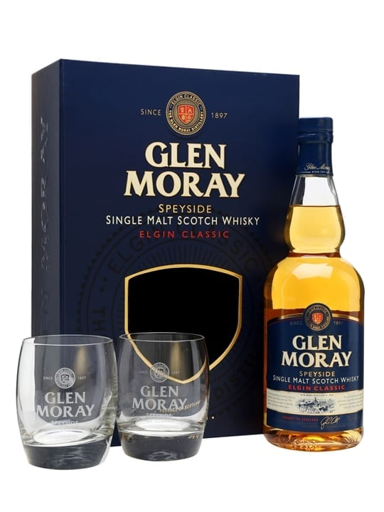 Glen Moray Classic / Glass Set Speyside Single Malt Scotch Whisky