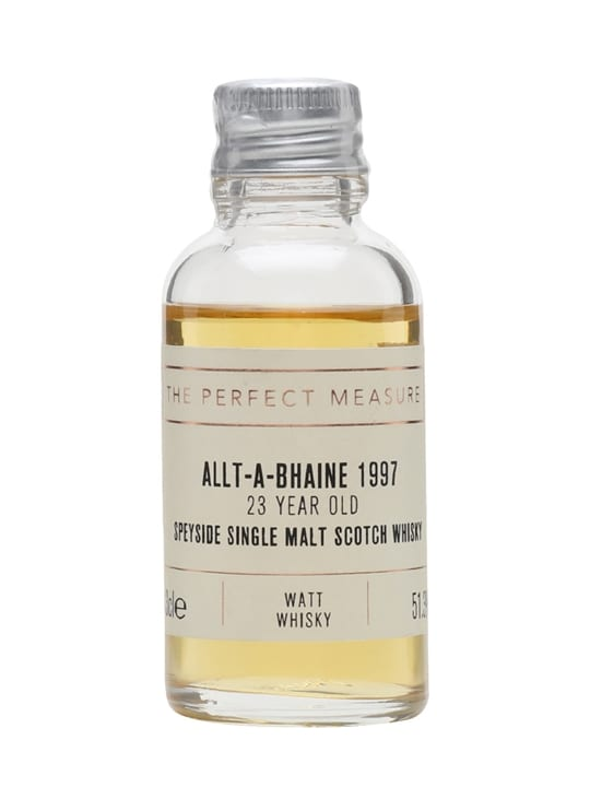 Allt-a-Bhaine 1997 Sample / 23 Year Old / Watt Whisky Speyside Whisky