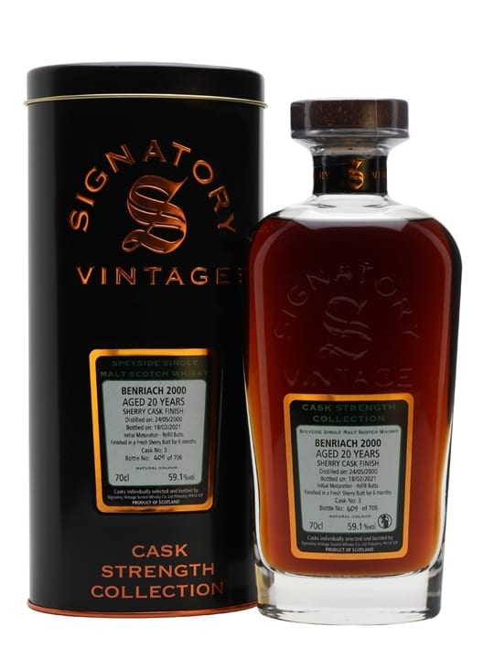 Benriach 2000 / 20 Year Old / Sherry Cask / Signatory Speyside Whisky
