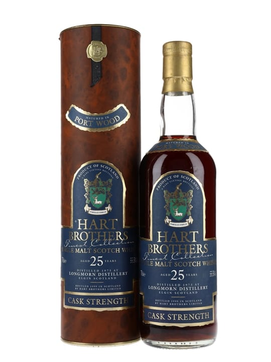 Longmorn 1973 / 25 Year Old / Port Wood / Hart Brothers Speyside Whisky