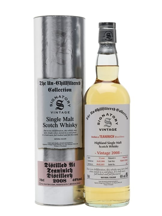 Teaninich 2008 / 12 Year Old / Signatory Highland Whisky