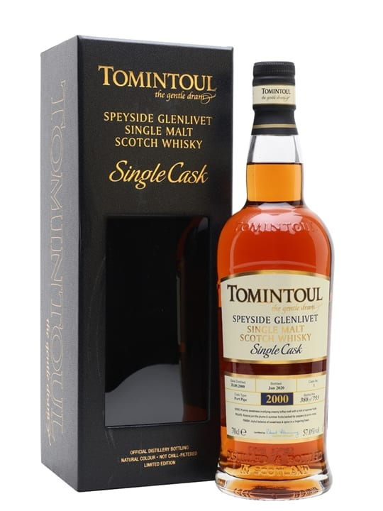 Tomintoul 2000 / 19 Year Old / Port Pipe Speyside Whisky