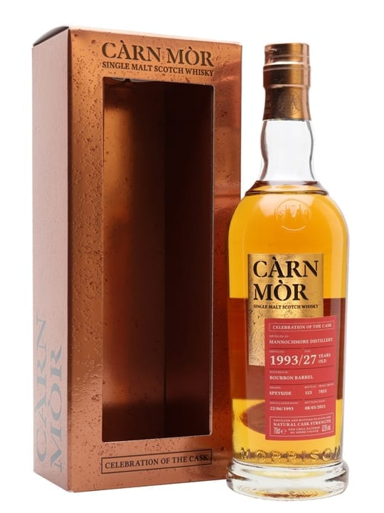 Mannochmore 1993 / 27 Year Old / Carn Mor Celebration of the Cask Speyside Whisky