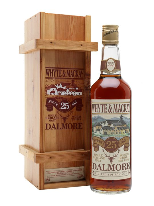 Dalmore 25 Year Old / Distilled Prior To 1960 / Bot.1980S Highland Whisky