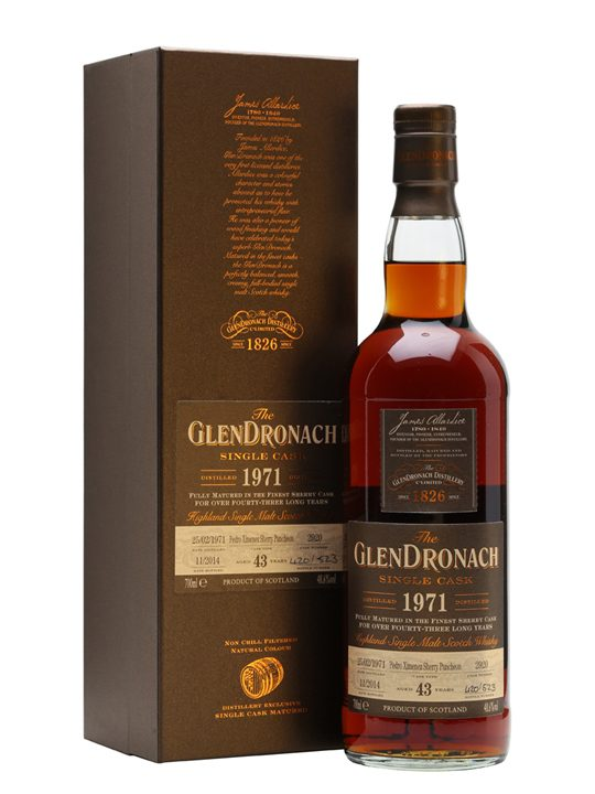 Glendronach 1971 / 43 Year Old / Sherry PX Puncheon #2920 Highland Whisky
