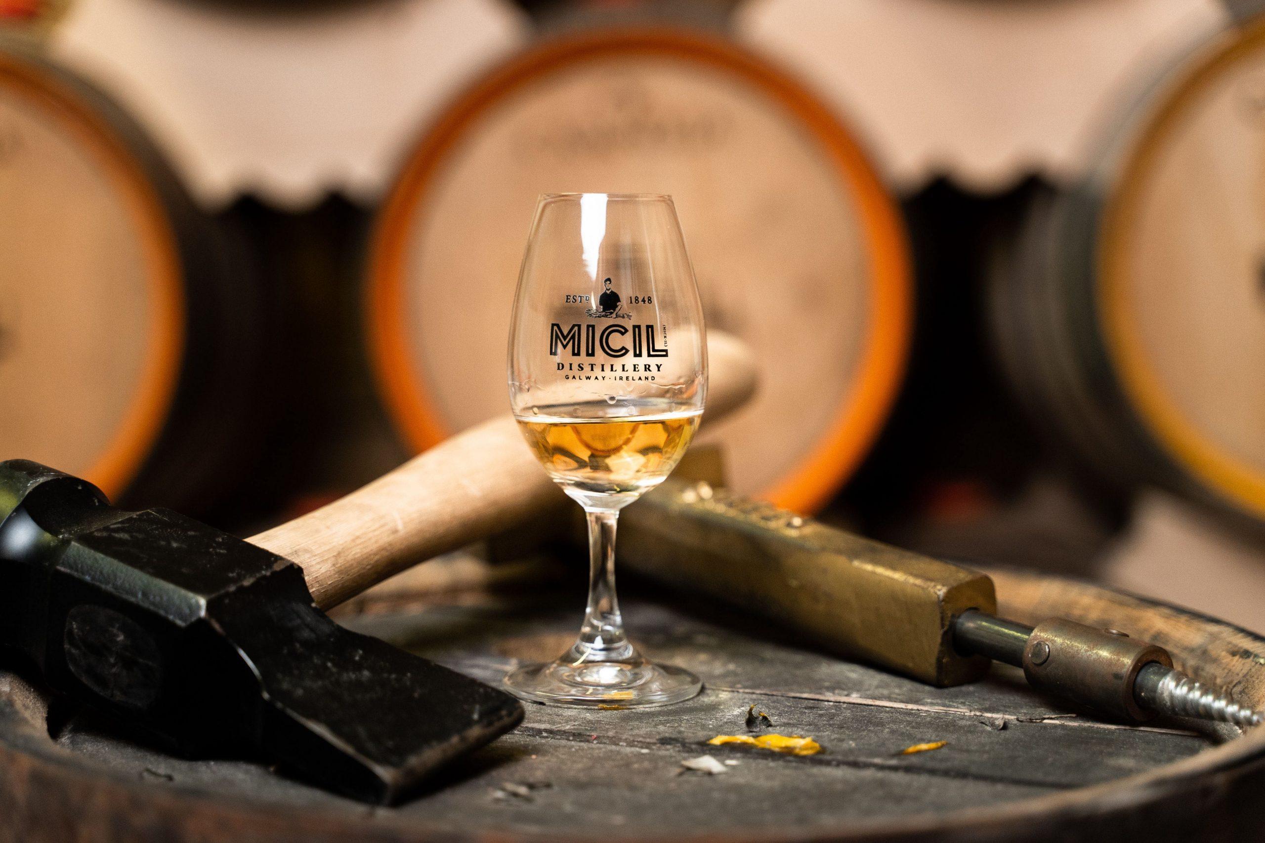 Padraic O'Griallais Micil Distillery Irish Whiskey Blogger Stuart Mcnamara Galway Whiskey Connemara