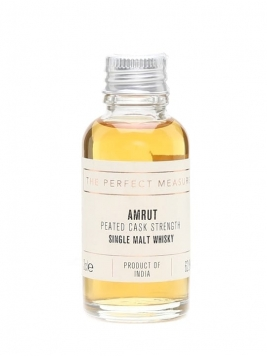 Amrut Peated Cask Strength Sample Indian Single Malt Whisky