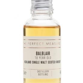 Balblair 18 Year Old Sample Highland Single Malt Scotch Whisky