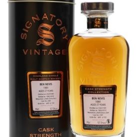 Ben Nevis 1991 / 27 Year Old / Signatory Highland Whisky