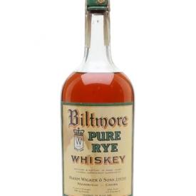 Biltmore Pure Rye Whiskey / Bot.1920s / Hiram Walker