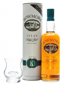 Bowmore 10 Year Old + Glass / Bot.1980s Islay Whisky