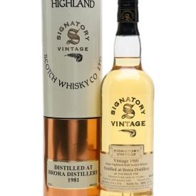 Brora 1981 / 19 Year Old / Signatory Highland Whisky