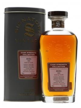 Brora 1981 / 22 Year Old / Sherry Butt / Signatory Highland Whisky