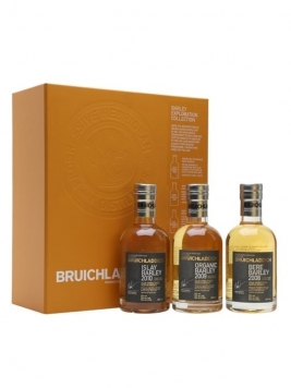 Bruichladdich Barley Exploration Gift Pack / 3x20cl Islay Whisky