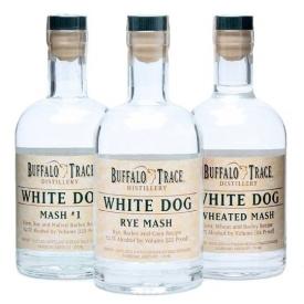 Buffalo Trace White Dog 3 Bottle Set Unaged American Spirit