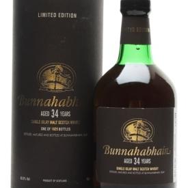Bunnahabhain 34 Year Old Islay Single Malt Scotch Whisky