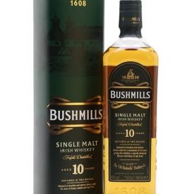Bushmills 10 Year Old Irish Single Malt Whiskey