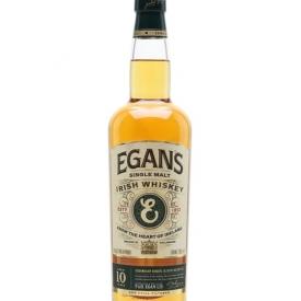 Egan's Single Malt Whiskey 10 Year Old Irish Single Malt Whiskey