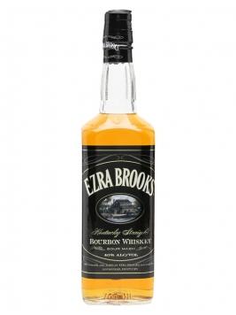 Ezra Brooks Black Label Bourbon Kentucky Straight Bourbon Whiskey