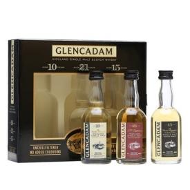Glencadam Miniature Gift Pack / 10, 15 and 21 Year Old Highland Whisky