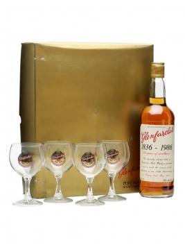 Glenfarclas 150th Anniversary & 4 Glasses Set Speyside Whisky