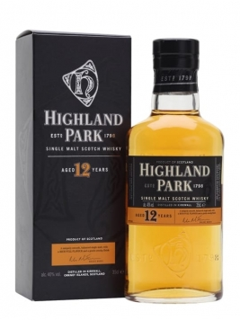 Highland Park 12 Year Old / Half Bottle Island Whisky