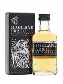 Highland Park 12 Year Old Miniature Island Single Malt Scotch Whisky