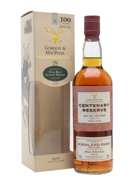 Highland Park 1970 / Centenary Reserve / Gordon & Macphail Island Whisky
