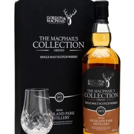 Highland Park 1973 & Glass Set / Macphail's Collection Island Whisky