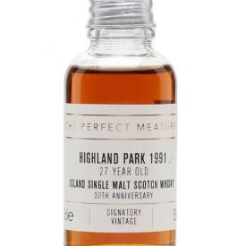 Highland Park 1991 Sample / 27 Year Old /Signatory 30th Ann. Island Whisky