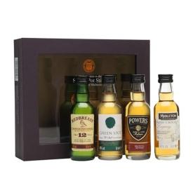 Irish Single Pot Still Whiskey Miniatures Gift Set / 4x5cl