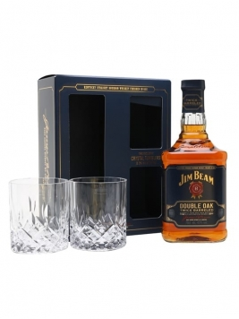Jim Beam Double Oak / Gift Set Kentucky Straight Bourbon Whiskey