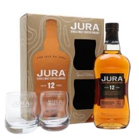Jura 12 Year Old / Glass Set Island Single Malt Scotch Whisky