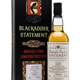 Ladyburn 1973 / 43 Year Old / Blackadder Statement No.17 Lowland Whisky