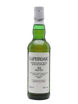 Laphroaig 10 Year Old / Bot.1990s / (Post Royal Warrant) Islay Whisky