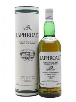 Laphroaig 10 Year Old / Bot.1990s (Pre Royal Warrant) Islay Whisky