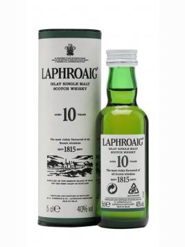 Laphroaig 10 Year Old Miniature Islay Single Malt Scotch Whisky