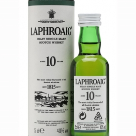 Laphroaig 10 Year Old Miniature Islay Single Malt Scotch Whisky