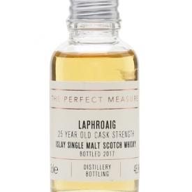 Laphroaig 25 Year Old Sample / Cask Strength / Bot.2017 Islay Whisky