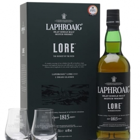 Laphroaig Lore / 2 Glass Pack Islay Single Malt Scotch Whisky