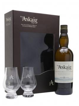 Port Askaig 8 Year Old Glass Set Islay Single Malt Scotch Whisky