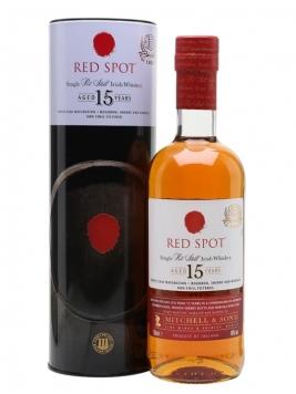 Red Spot 15 Year Old Irish Whiskey Single Pot Still Irish Whiskey