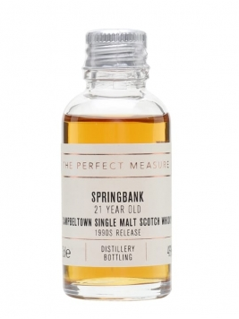 Springbank 21 Year Old Sample / Bot.1990s Campbeltown Whisky