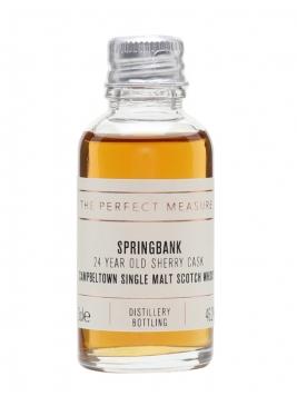 Springbank 24 Year Old Sample / Sherry Hogshead Campbeltown Whisky