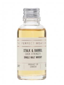 Stalk & Barrel Single Malt Whisky Cask Strength Sample Canadian Whisky