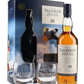 Talisker 10 Year Old / 2 Glass Pack Island Single Malt Scotch Whisky
