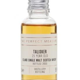 Talisker 25 Year Old Sample / Bot.2007 Island Whisky