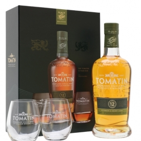 Tomatin 12 Year Old / Glass Pack Highland Single Malt Scotch Whisky